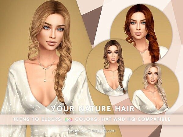 Your Nature Hair ~ Sonya Sims for Sims 4