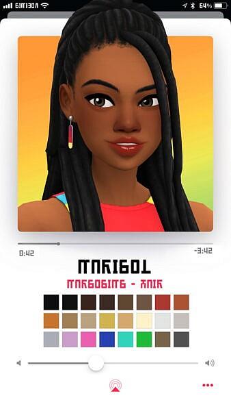 Marisol hair ~ Marso Sims for Sims 4