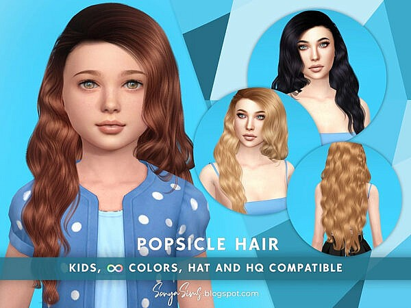 Popsicle Hairstyle KIDS ~ The Sims Resource for Sims 4
