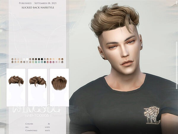 Slicked Back Hairstyle ~ The Sims Resource for Sims 4