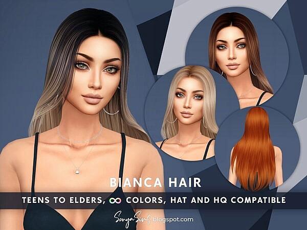 Bianca Hair ~ Sonya Sims for Sims 4