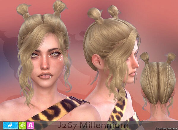 Millennium Hairstyle ~ NewSea for Sims 4