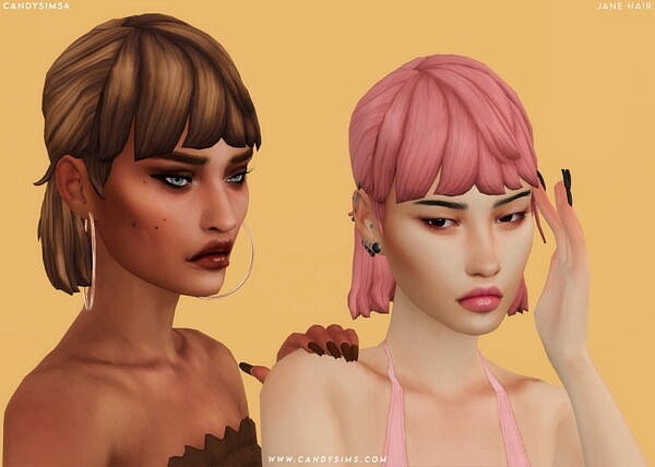 Jane Hairstyle ~ Candy Sims 4 for Sims 4