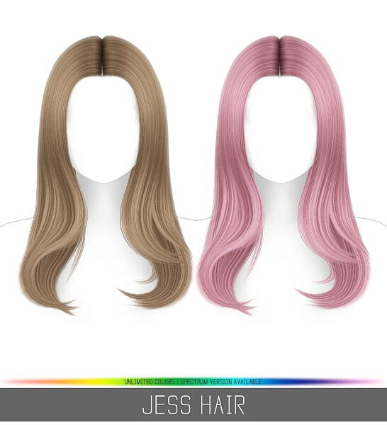Jess Hair ~ Simpliciaty for Sims 4