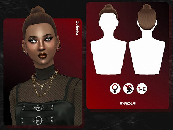 Julieta Hair by Enriques4 ~ The Sims Resource for Sims 4