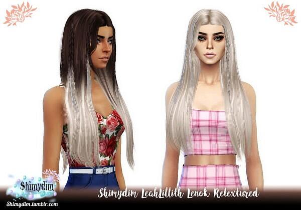 LeahLillith`s Lenok Hair Retextured ~ Shimydim for Sims 4