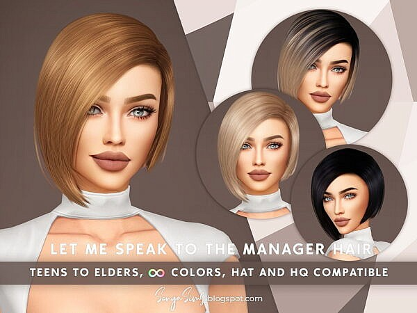 Let Me Speak to The Manager Hair ~ In My Dreams for Sims 4