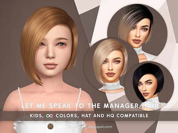 Let Me Speak to The Manager Hair KG by SonyaSimsCC ~ The Sims Resource for Sims 4