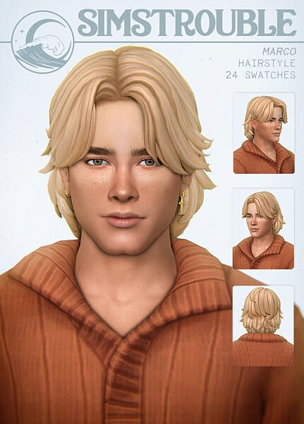 Marco Hair ~ Simstrouble for Sims 4