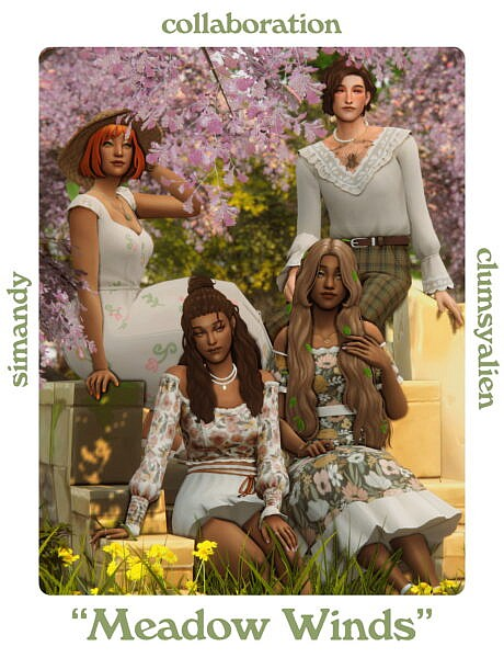 Meadow Winds Hairs ~ Simandy for Sims 4