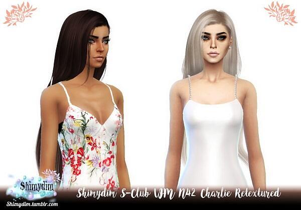"S Club""s WM N42 Charlie Hair Retexture ~ Shimydim for Sims 4"