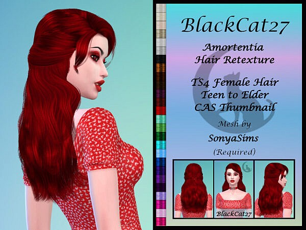 SonyaSims Amortentia Hair Retextured by BlackCat27 ~ The Sims Resource for Sims 4