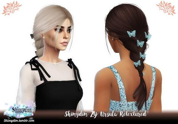Antos Ursula Hair Retextured ~ Shimydim for Sims 4