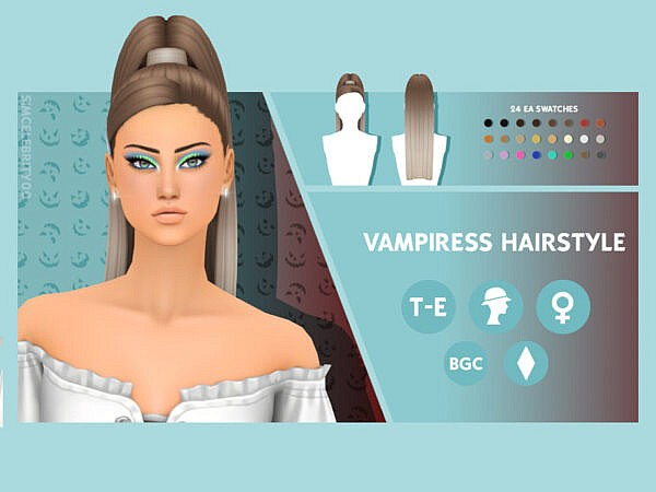 Vampiress Hair ~ The Sims Resource for Sims 4