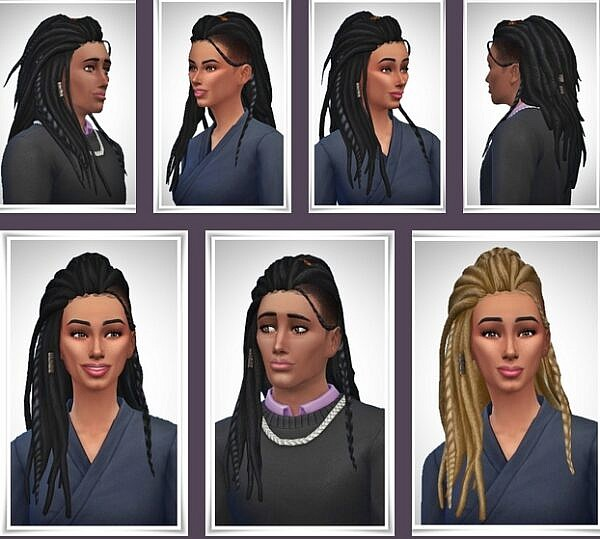 Zoe and Zo Dreads ~ Birksches Sims Blog for Sims 4